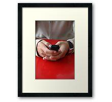 make call Framed Print
