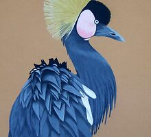 Black-Crowned Crane by Anita Meistrell Putman