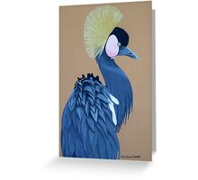Black-Crowned Crane Greeting Card