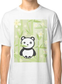 Cute Emo Panda Illustration Classic T-Shirt