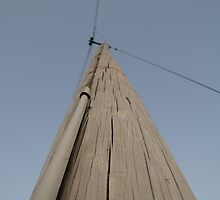 Utility pole in Wakarusa by agenttomcat