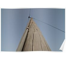 Utility pole in Wakarusa Poster