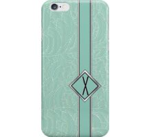 1920s Blue Deco Swing with Monogram letter X iPhone Case/Skin