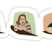 Lebowski Conversation Triptych Sticker