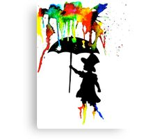 it's raining colours Canvas Print