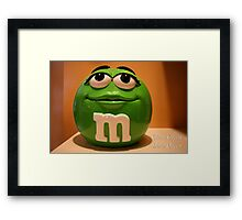 Clean Green Disco Queen Framed Print