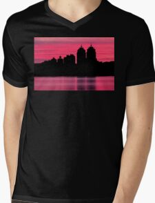 Silhouette city Mens V-Neck T-Shirt