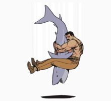 Shark wrestling Kids Clothes