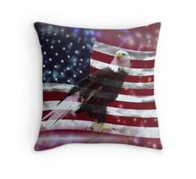 Tribute to Independance Day Throw Pillow