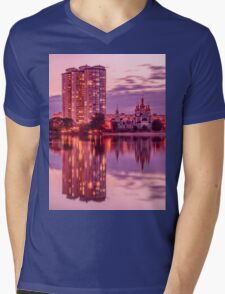The Lights Of The Evening Lake Mens V-Neck T-Shirt