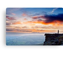 Young Lovers Sunset Canvas Print