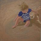 Making Puddles - Pastel Painting by Alison Murphy