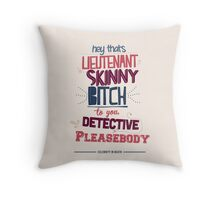 Lieutenant Skinny Bitch Throw Pillow