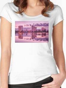 The Lights Of The Evening Lake Women's Fitted Scoop T-Shirt