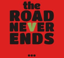 The road never ends...   Black Kids Tee