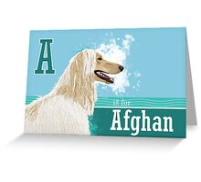A is for Afghan Greeting Card