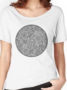 Microbes - Grey / Gray Women's Relaxed Fit T-Shirt