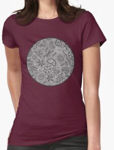 Microbes - Grey / Gray Womens Fitted T-Shirt