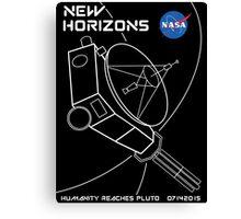 New Horizons -- Humanity Reaches Pluto 07142015 Canvas Print