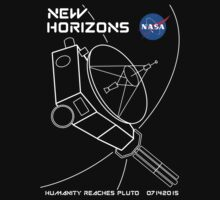 New Horizons -- Humanity Reaches Pluto 07142015 One Piece - Short Sleeve