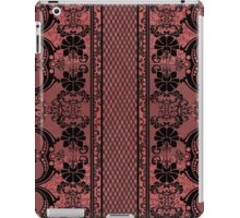 Red with black lace iPad Case/Skin