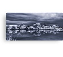 Morning on the lake Canvas Print