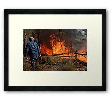 A Controlled Burn Framed Print