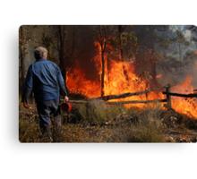 A Controlled Burn Canvas Print
