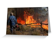 A Controlled Burn Greeting Card