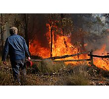A Controlled Burn Photographic Print