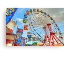 Colourful Luna Park Canvas Print