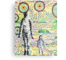Aborigine and Child Metal Print