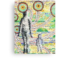 Aborigine and Child Canvas Print
