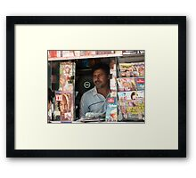 hardworking man Framed Print