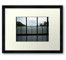 Mies Interior - Chicago Institute of Technology Framed Print