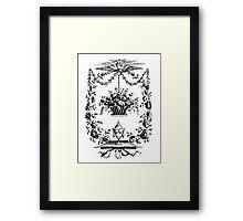 FLOWER BORDER Framed Print