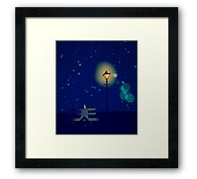 Lonely Man under the Lonely Light Framed Print