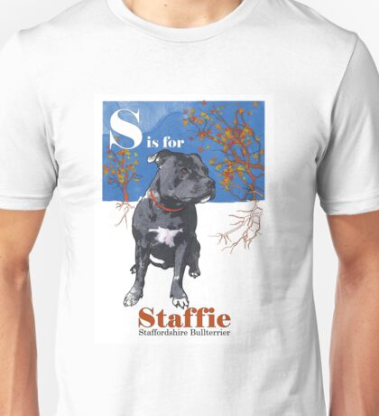 S is for Staffie Unisex T-Shirt