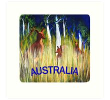 Roos in the Grass  Art Print