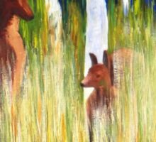 Roos in the Grass  Sticker