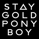 PONY BOY 'STAY GOLD' by rule30