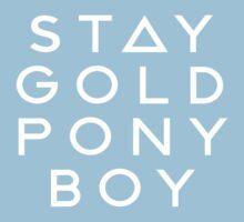 PONY BOY 'STAY GOLD' Kids Tee