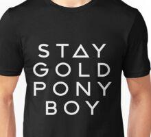 PONY BOY 'STAY GOLD' Unisex T-Shirt