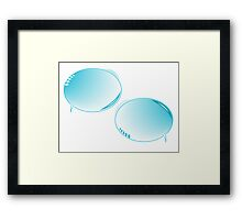 Blue text bubbles Framed Print