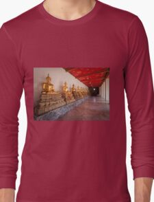 Golden Buddha Statues Long Sleeve T-Shirt