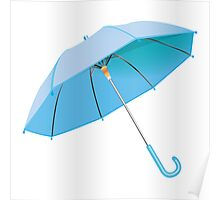 Blue umbrella Poster