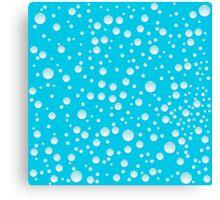 Blue water drops Canvas Print