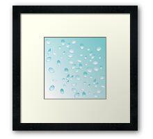 Blue water drops pattern Framed Print