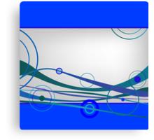 Blue waves and circles Canvas Print