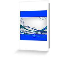 Blue waves and circles Greeting Card